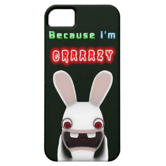 Because I'm Crazy Rabbit iPhone 5 Case
