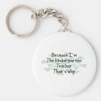 Because I'm the Kindergarten Teacher Keychain