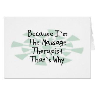 Because I'm the Massage Therapist Card