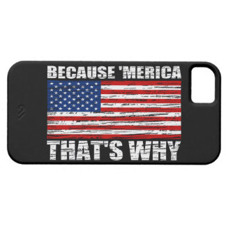 BECAUSE MERICA Distressed US Flag iPhone 5 Case