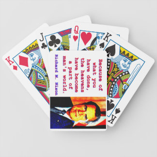 Because Of What You Have Done - Richard Nixon Bicycle Playing Cards