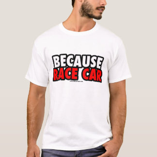 Because Race Car (Light) T-Shirt
