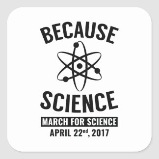 Because Science Square Sticker