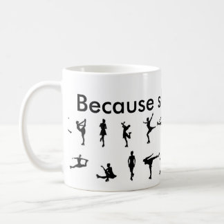 because skating is life coffee mug