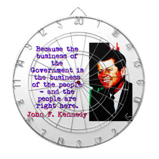 Because The Business - John Kennedy Dartboard
