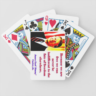 Because We Are Free - Jimmy Carter Bicycle Playing Cards