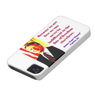 Because We Are Free - Jimmy Carter iPhone 4 Cover