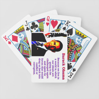 Because We Live In A World - Barack Obama Bicycle Playing Cards