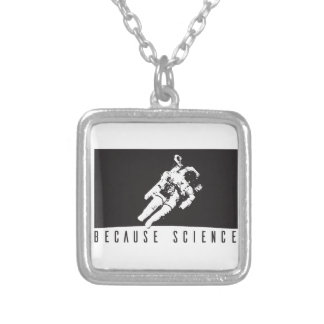 becausescience silver plated necklace