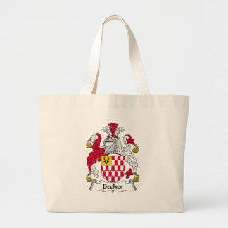Becher Family Crest Large Tote Bag