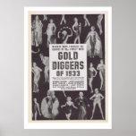 Bêcheurs d'or de 1933 posters