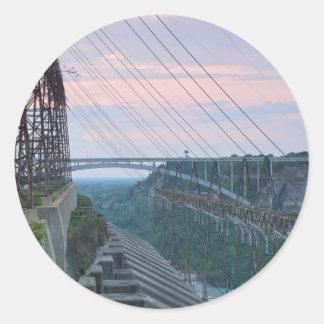 Beck Hydropower Station Round Sticker