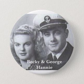 Becky & George Hannie button