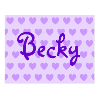 Becky in Purple Postcard