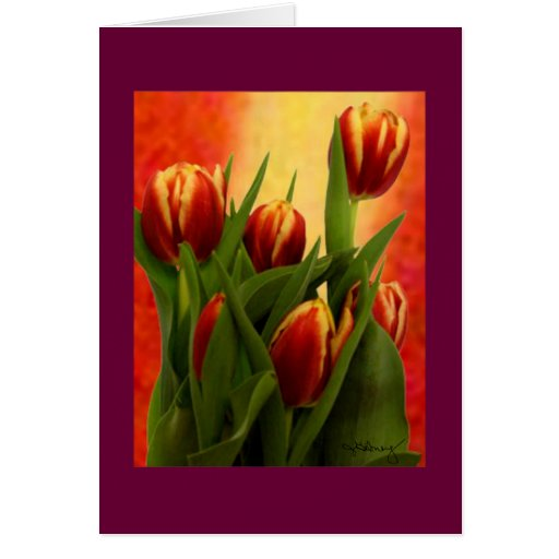 Becky's Tulips jGibney Signature Greenville SC The Card