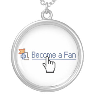 Become a Fan Round Pendant Necklace