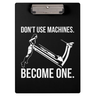 Become A Machine, Strong Girl Lifting Treadmill Clipboard