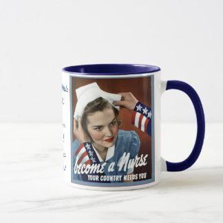 Become A Nurse ~ Personalized Vintage Nurse Mug