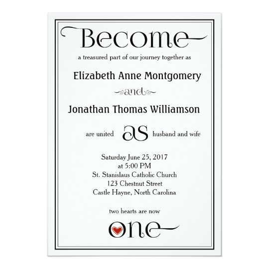Become as One Contemporary Christian Wedding Card