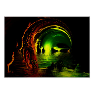 Becomes green Grotte Poster