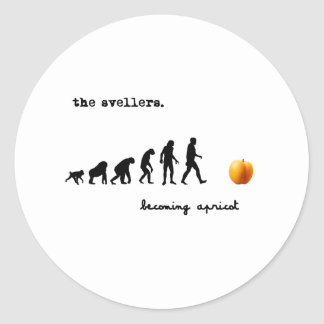 becoming apricot light round sticker