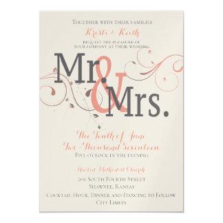 Becoming Mr. & Mrs. 5x7 Wedding Invitation
