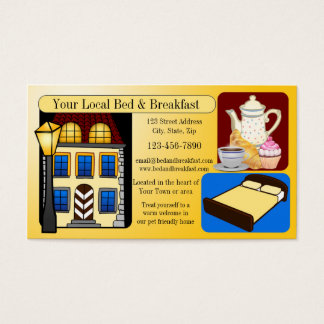 Bed and Breakfast Hospitality Business Card
