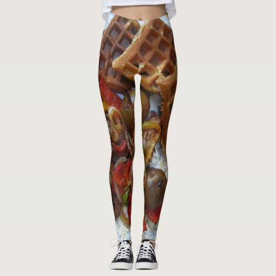 bed and breakfast waffle and potato bake leggings