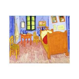 bed bedroom Vincent van Gogh Canvas Print