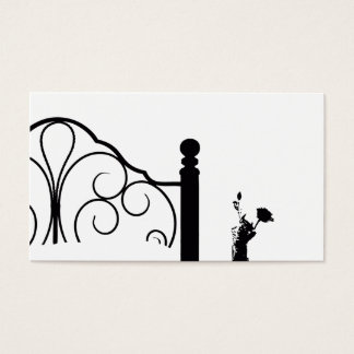 Bed & Breakfast Black and White Rose Background Business Card
