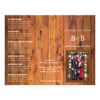 Bed Breakfast Trifold Advertising Brochure Cherry Flyer