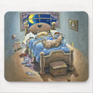Bed Hogs Mouse Pad