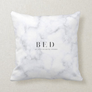Bed My Favourite Word Marble Cushion