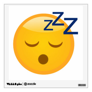 Bed Time Emoji Wall Decal