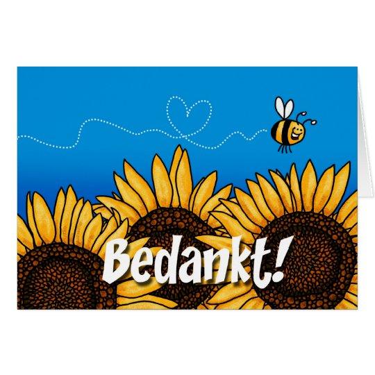 Bedankt! (Dutch thank you card) Card