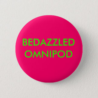 BEDAZZLED OMNIPOD 2 INCH ROUND BUTTON