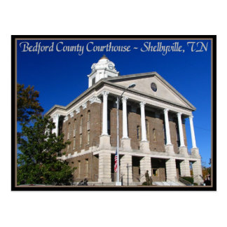 Bedford County Courthouse - Shelbyville, TN Postcard