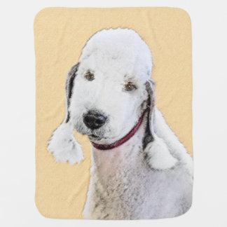 Bedlington Terrier 2 Baby Blanket
