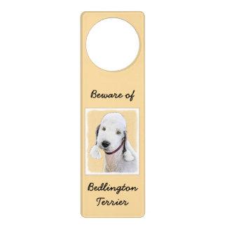 Bedlington Terrier 2 Door Knob Hangers