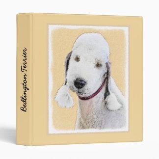Bedlington Terrier 2 Painting - Original Dog Art 3 Ring Binder
