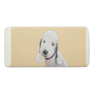 Bedlington Terrier 2 Painting - Original Dog Art Eraser