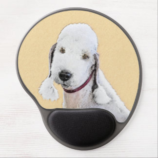 Bedlington Terrier 2 Painting - Original Dog Art Gel Mouse Pad