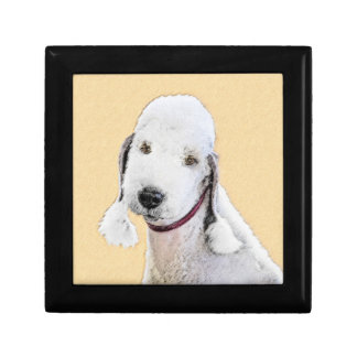 Bedlington Terrier 2 Painting - Original Dog Art Gift Box