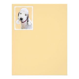Bedlington Terrier 2 Painting - Original Dog Art Letterhead