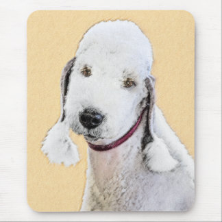 Bedlington Terrier 2 Painting - Original Dog Art Mouse Pad