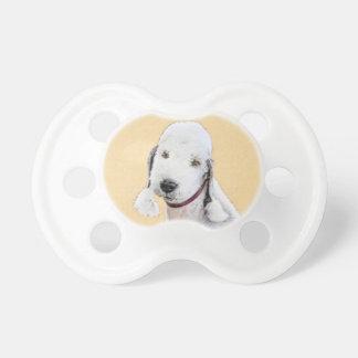 Bedlington Terrier 2 Painting - Original Dog Art Pacifier