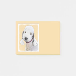 Bedlington Terrier 2 Painting - Original Dog Art Post-it Notes