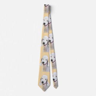 Bedlington Terrier 2 Painting - Original Dog Art Tie