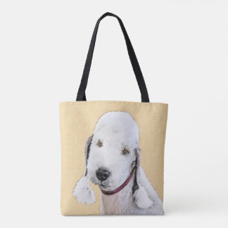 Bedlington Terrier 2 Painting - Original Dog Art Tote Bag