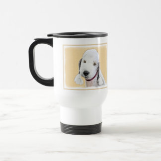 Bedlington Terrier 2 Painting - Original Dog Art Travel Mug